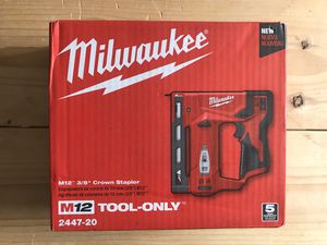 Milwaukee M12 12-Volt Lithium-Ion Cordless 3/8 in. Crown Stapler (Tool-Only) for Sale in Queens, NY