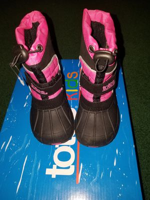 Toddler waterproof shell snow boots for Sale in Elyria, OH