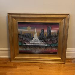 """33"""" Chicago Buckingham Fountain Painted Canvas for Sale in Chicago,  IL"""
