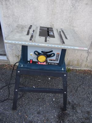 "Ryobi BTS12S 10"" Table Saw Bench Top Shop With Stand 13 Amp 4800 Rpm 26"" Wide for Sale in Lansdowne, PA"