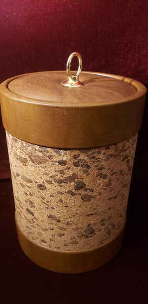 Vintage MCM 1970s Cork Ice Bucket and Vinyl for Sale in Portland, OR