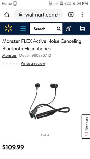 Monster FLEX Bluetooth Headphones for Sale in Tulsa, OK
