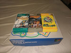 Super Famicom Nintendo system w/ 3 games amazing condition! for Sale in Providence, RI