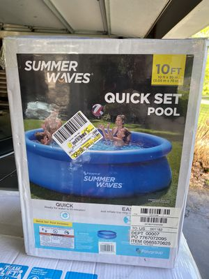 Summer Waves Quick Set Pool - 10 Foot - Brand New!! for Sale in Southfield, MI