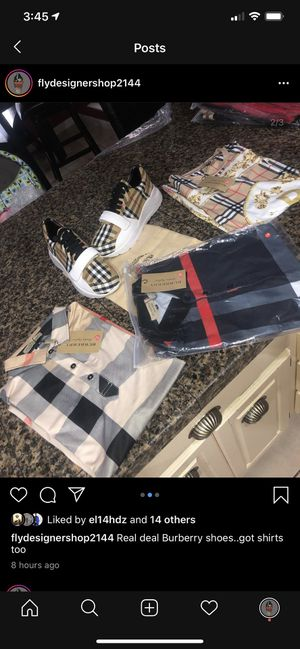 New Burberry shoes and shirts for Sale in Dallas, TX