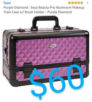 Purple Diamond : Seya Beauty Pro Aluminum Makeup Train Case w/ Brush Holder - Purple Diamond for Sale in Montclair, CA