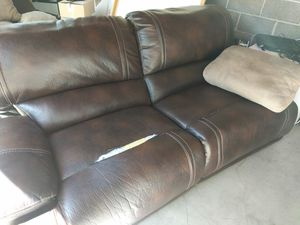 Really Nice Leather Couch with tear for Sale in Salt Lake City, UT