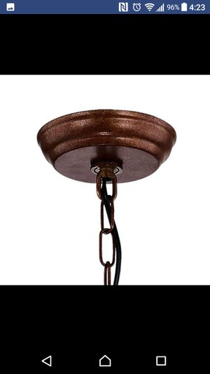 Chandelier(Open Box, Unused, Complete) Cage Global Chandelier, Antique Copper for Sale in Houston, TX