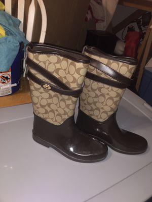 Women's coach rain boots for Sale in Camas, WA