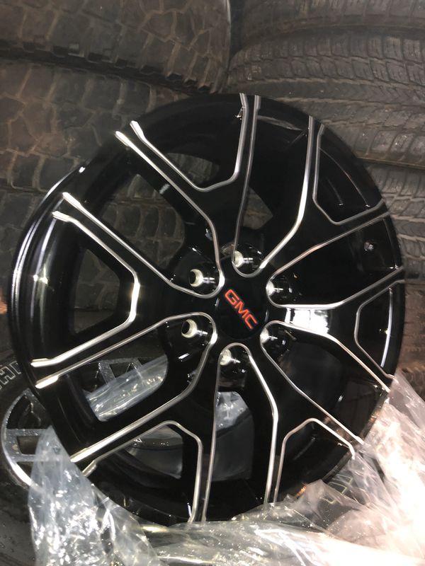 "New 20"" Black / Milled Rims ! 20s Wheels 20 Rines y llantas 2019 Chevrolet 2018 Silverado 2017 Tahoe 2016 GMC 2015 Sierra 2014 Yukon suburban"