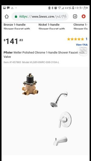 2 sets Shower and tub faucet and valve for Sale in Mesquite, TX