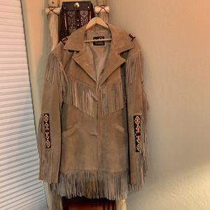 Suede Leather Men's XL Jacket with Beaded Accents for Sale in Scottsdale, AZ