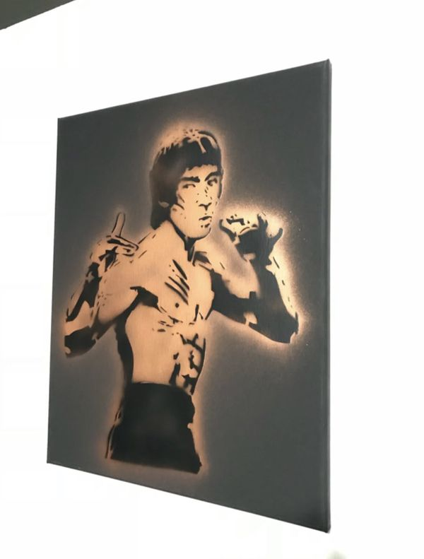 Bruce Lee 16x20 Graffiti Canvas