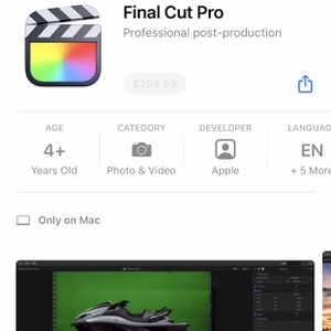 Final Pro Cut X & Logic Pro X for Sale in Tacoma, WA