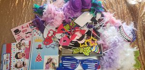 Party photo booth props and backdrop for Sale in San Diego, CA