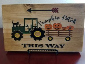 Pumpkin Patch Tractor Wood Sign for Sale in San Antonio, TX
