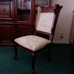 Antique MAHOGANY Wood & TAPESTRY Chair for Sale in Fallbrook, CA