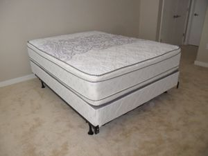 New queen size pillowtop mattress and box spring for Sale in Silver Spring, MD