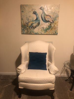 Everything for $300.00 includes: couch, chair, end, sofa and cocktail table, wall pictures, lamps, curtains and dining room table and 4 chairs. for Sale in Nashville, TN