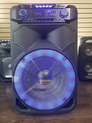 "Bocina Nueva Bluetooth Karaoke Speaker 15"" Woofer LED Lights / Wireless 🎤 / USB / MICRO SD CARD / FM RADIO 📻 . 📦 Rechargeable 🔋 +++ for Sale in Los Angeles, CA"