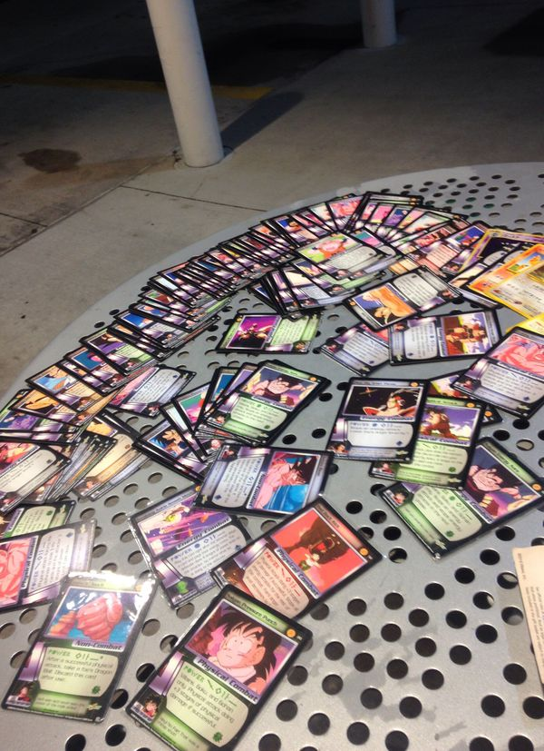 collection of dragon ball z cards