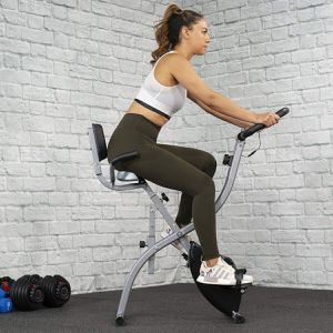 Foldable Stationary Upright Exercise Bike Cardio Workout Cycling Magnetic LCD - BestExercise at Home for Sale in Los Angeles, CA