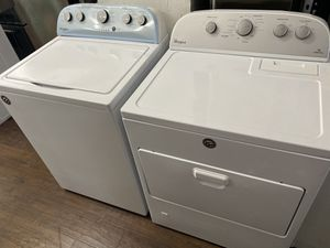 Whirlpool top load washer heavy duty and gas dryer set for Sale in Los Angeles, CA