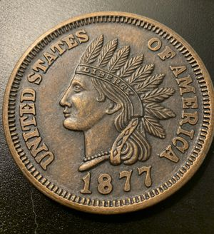 """""""1877"""" Dated """"One Cent"""" 3 Inch Novelty Paperweight or Coaster for Sale in E ATLANTC BCH, NY"""