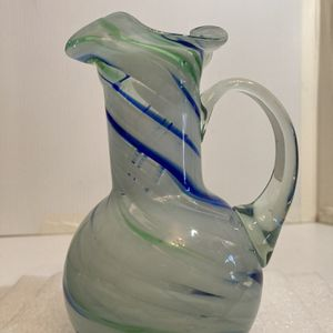 Hand Blown Art Glass Pitcher for Sale in Pike Road, AL
