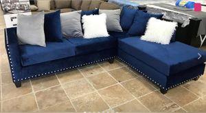 New Blue Velvet Sectional Sofa for Sale in Austin, TX
