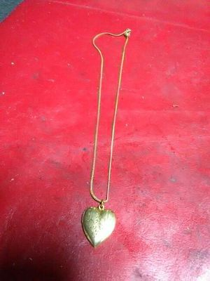 Gold plated chain with heart charm for Sale in Pittsburgh, PA