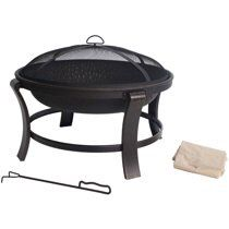 "Deep 30"" Fire Pit, Antique Bronze Outdoor Patio Backyard Fireplace Garden Firepit Deck Heater for Sale in Toledo, OH"