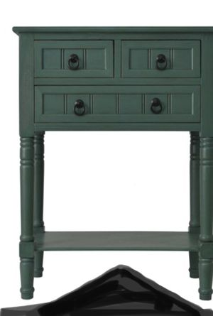 New!! 3 drawer console , side table, end table , lamp table , entrance furniture, green for Sale in Phoenix, AZ