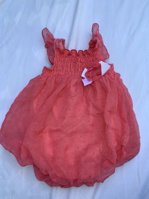 Baby girls watermelon pink 🍉 summer eyelet romper size 12 months for Sale in Painesville, OH
