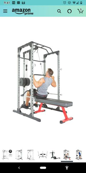 Fitness Reality 810XLT Power Rack Cage with Lat Pulldown Attachment for Sale in Orlando, FL