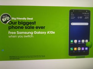 Samsung Galaxy A10e, 32 GB, FREE with port in / on unlimited more plan for Sale in Mansfield, TX