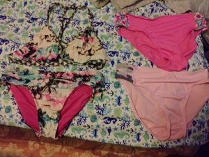 Girls bathsuits . sleepers. Frozen Snuggie. Unicorn sleepers and one piece for Sale in Seffner, FL
