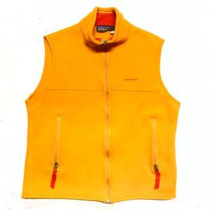ORANGE 90s vintage PATAGONIA Synchilla FULL Zip Up Vest for Sale in Los Angeles, CA