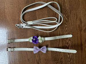Dog collar and leash wedding set for Sale in Centreville, VA