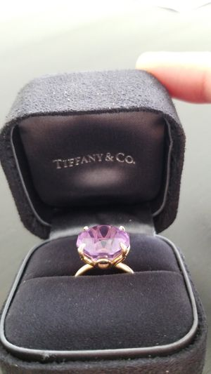 Tiffany's ring sparkler amethyst anniversary engagement jewelry for Sale in Hendersonville, TN