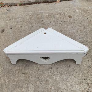 White Corner Shelf for Sale in Houston, TX
