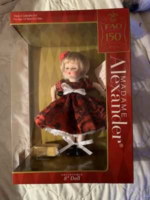 Madame Alexander FAO Schwarz 150 Anniversary Collectible Doll for Sale in Moundsville, WV