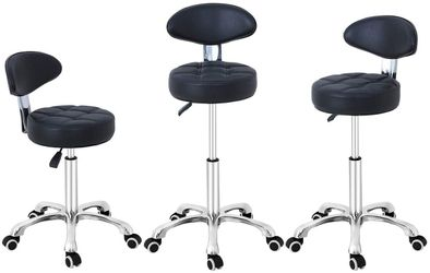 Grace & Grace Pneumatic Height Adjustable Rolling Swivel Stool Chair for Sale in Ontario,  CA