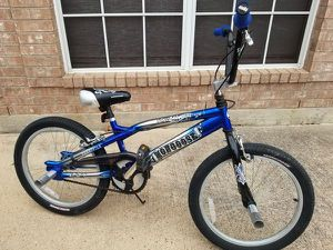 Mongoose kids bmx bike silver and blue for Sale in Salt Lake City, UT