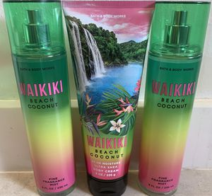 💚💛💖 NEW BATH & BODY WORKS FRAGRANCE WAIKIKI BEACH COCONUT 💛💚💖 for Sale in Tacoma, WA