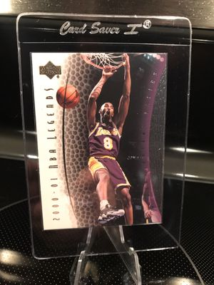 2000 Upper Deck Kobe Bryant NBA Basketball Card - Authentic Lakers Black Mamba Jersey 8 Collectible - RARE INSERT - $29 OBO for Sale in Carlsbad, CA