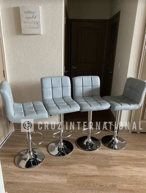 Brand New! $60 EACH Gray Leather Luxury Bar Stools for Sale in Orlando, FL