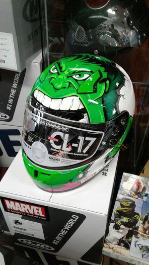 Incredible Hulk motorcycle helmet size large brand new Snell racing helmet for Sale in Los Angeles, CA