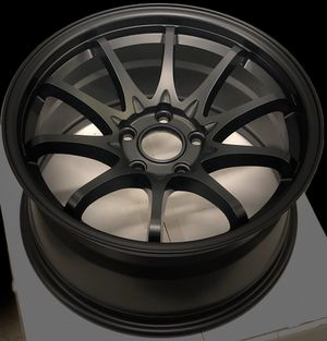 New 17x9 matte black wheels 5x114.3 all 4 new in boxes for Sale in Norwalk, CA