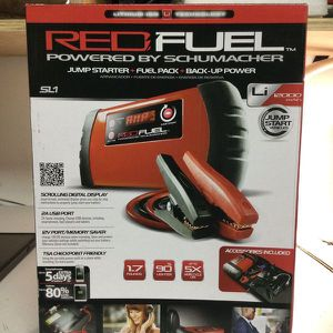 Red Fuel Jump Starter +fuel Pack+back-up Power for Sale in Miami, FL